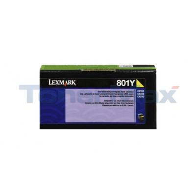 LEXMARK CX510 TONER CARTRIDGE YELLOW RP 1K